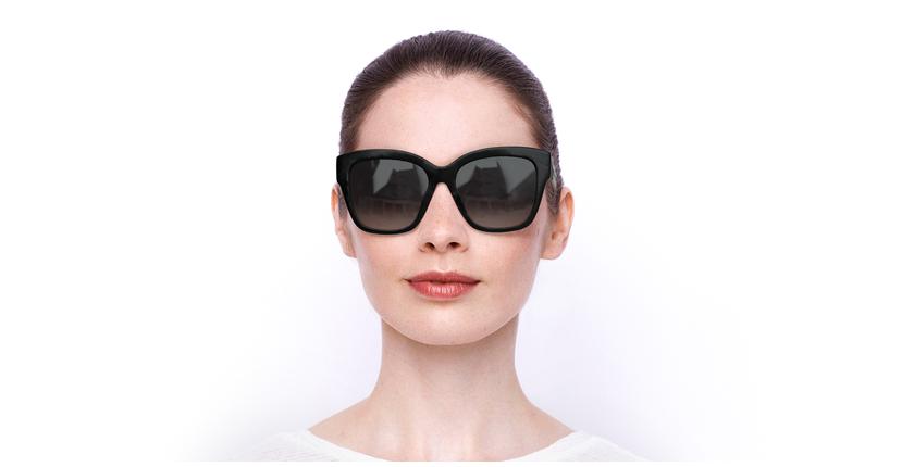 Lunettes de soleil femme SK030501B5716 noir - Vue de face