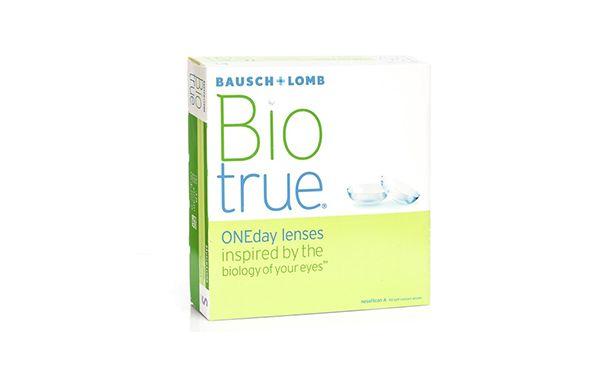 Lentilles de contact BioTrue 1 Day 90L - Vue de face
