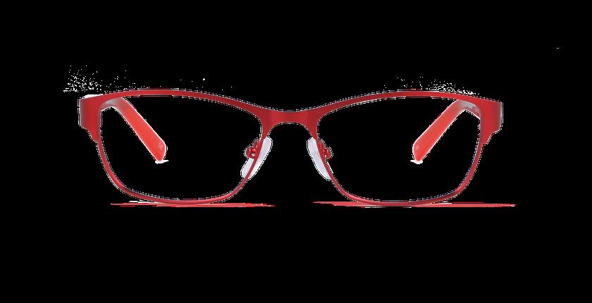 Lunettes de vue femme CORALIE rouge - Vue de face