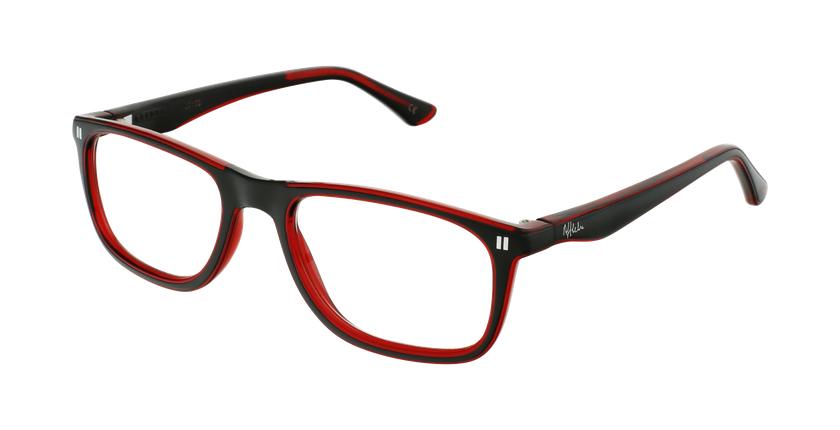 Óculos graduados criança REFORM TEENAGER (J3BKRD) preto/vermelho - vue de 3/4
