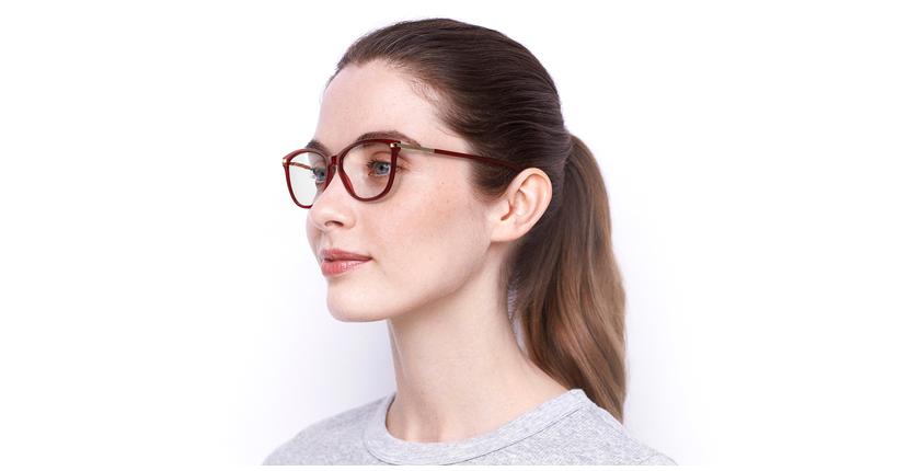 Óculos graduados senhora OAF20520 RD (TCHIN-TCHIN +1€) vermelho - vue de 3/4