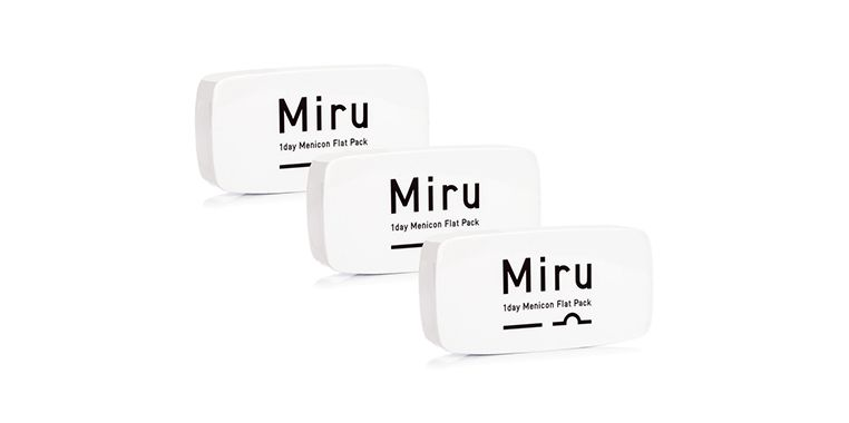 Lentilles de contact Miru 1day Menicon Flat Pack - 3*30