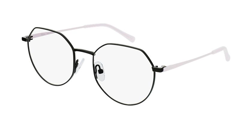 Óculos graduados senhora NOELIE BK (TCHIN-TCHIN +1€) preto - vue de 3/4