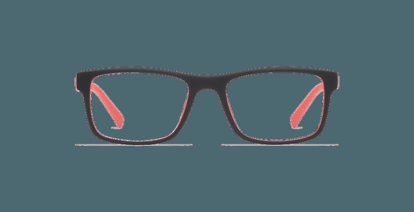 Gafas graduadas JUMP negro/rojo - vista de frente