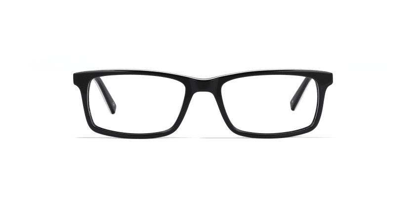 Óculos graduados homem LEON BK (TCHIN-TCHIN +1€) preto - Vista de frente