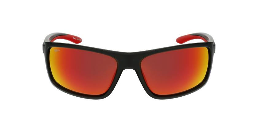 Lunettes de soleil homme IGOR noir/rouge - Vue de face