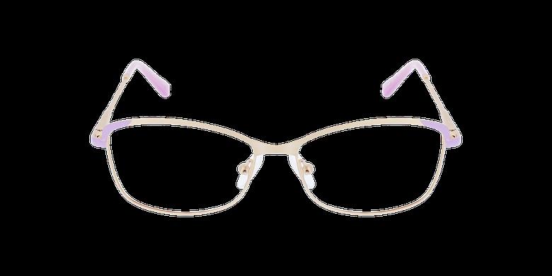 Lunettes de vue femme ELIA doré/violetVue de face