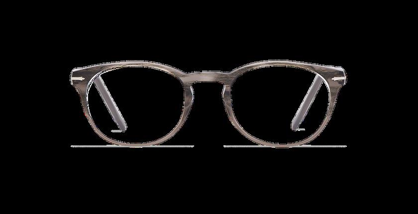 Lunettes de vue homme CHAMPAGNOLE gris/écaille - Vue de face